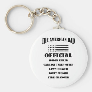 Official Jobs of The American Dad Basic Round Button Key Ring