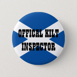 Official Kilt Inspector 6 Cm Round Badge