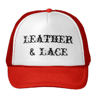 Official Leather Lace Red Trucker Hat