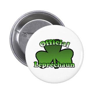 Official Leprechaun Shamrock Button