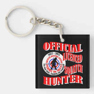 Official licenced Double-Sided square acrylic key ring