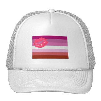 OFFICIAL LIPSTICK LESBIAN FLAG TRUCKER HATS
