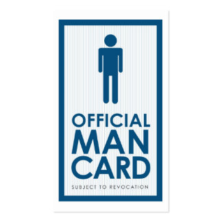 Official Man Card Business Card Templates