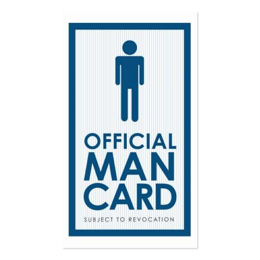 Official Man Card Business Card Templates