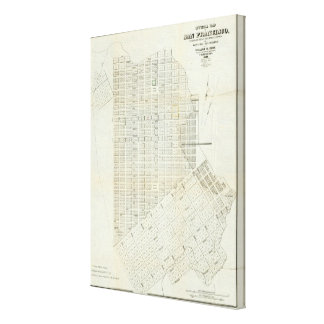Official Map of San Francisco Canvas Print