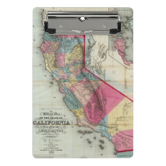 Official map of the State of California Mini Clipboard