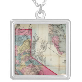 Official map of the State of California Silver Plated Necklace