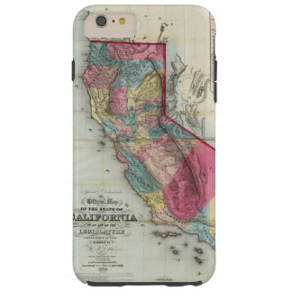 Official map of the State of California Tough iPhone 6 Plus Case