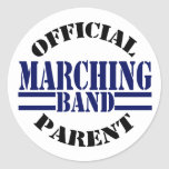 Official Marching Band Parent Round Stickers