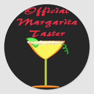 Official Margarita Taster  T-Shirts & Gifts Classic Round Sticker