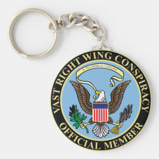 Official Member of The Vast Right Wing Conspiracy Keychains