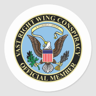 Official Member of The Vast Right Wing Conspiracy Stickers