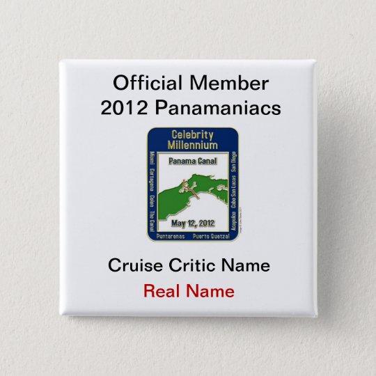 Official Member Panamaniacs 15 Cm Square Badge