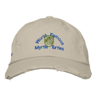 Official Myrtle Turtle Golf Hat Embroidered Baseball Cap