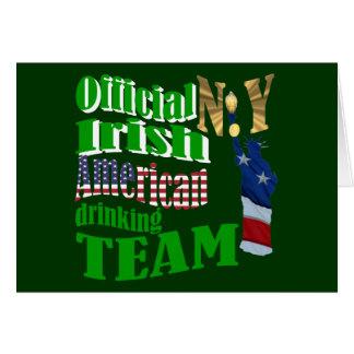 Official N.Y. Irish American drinking team Greeting Card
