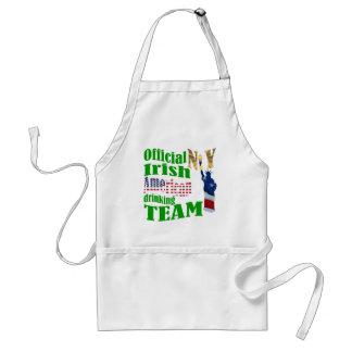 Official N.Y. Irish American drinking team Standard Apron