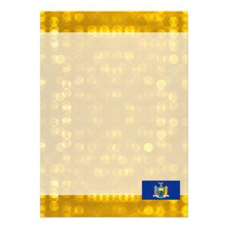 Official New Yorker Flag 13 Cm X 18 Cm Invitation Card