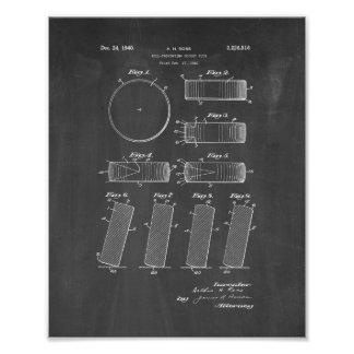 Official NHL Puck 1942-1960 Patent - Chalkboard Poster