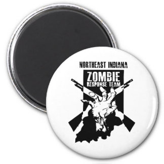 Official Northeast Indiana Zombie Response Team 6 Cm Round Magnet