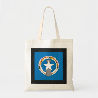 Official Northern Mariana Islands Flag on stripes Budget Tote Bag