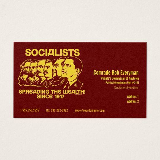 Official Obammunist Part Commissar Card