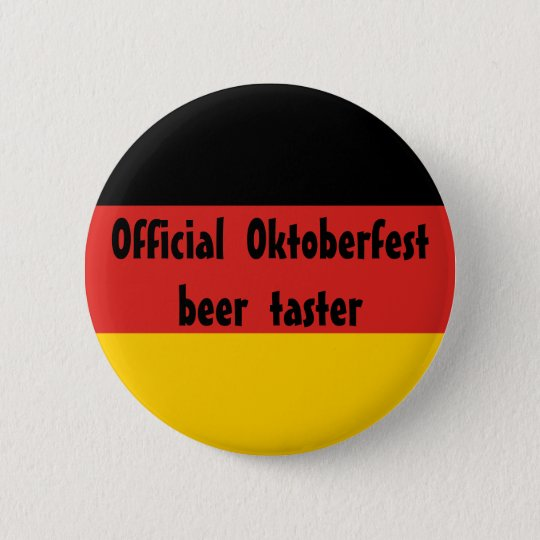 Official Oktoberfest Beer Taster 6 Cm Round Badge