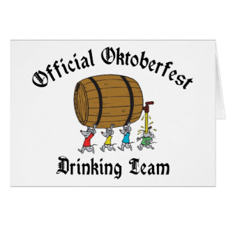 Official Oktoberfest Drinking Team Cards