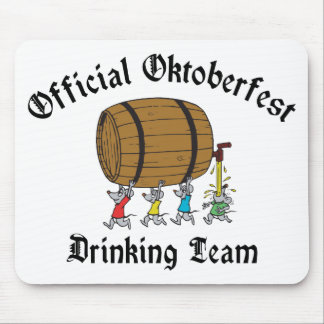 Official Oktoberfest Drinking Team Mouse Pad