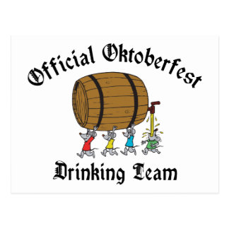Official Oktoberfest Drinking Team Post Cards