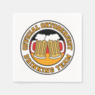 Official Oktoberfest Drinking Team With Flag Disposable Serviettes