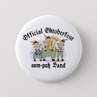Official Oktoberfest Oom Pah Band 6 Cm Round Badge