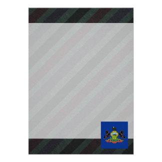 Official Pennsylvania Flag on stripes 13 Cm X 18 Cm Invitation Card