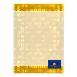 Official Pennsylvanian Flag 13 Cm X 18 Cm Invitation Card