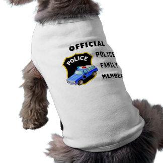 Official Police Family Sleeveless Dog Shirt