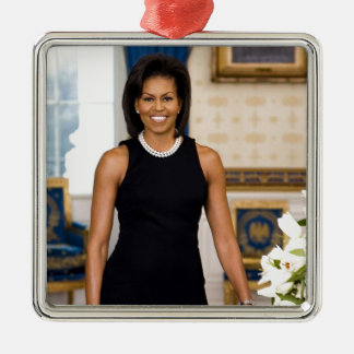 Official Portrait of First Lady Michelle Obama Christmas Ornament