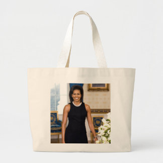 Official Portrait of First Lady Michelle Obama Large Tote Bag