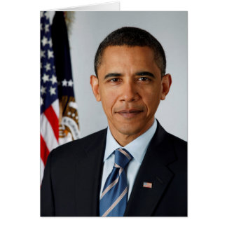 Official Portrait of president Barack Obama Card
