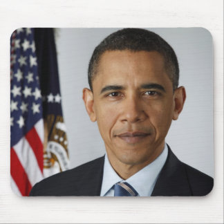 Official portrait off Barack Obama Mouse Pad