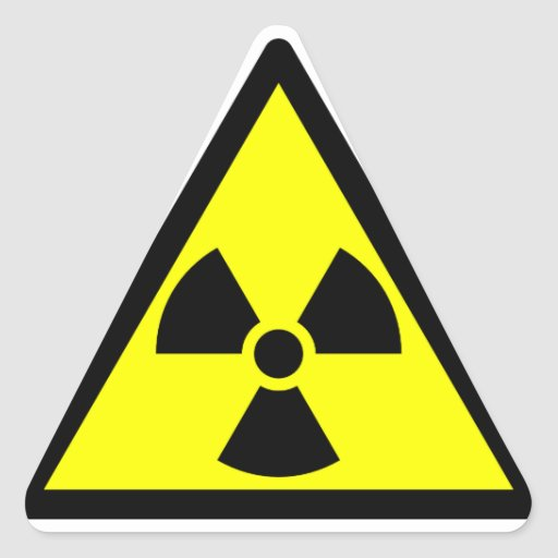 Official radioactive trefoil symbol sticker