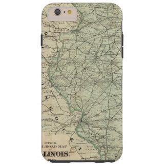 Official railroad map of Illinois Tough iPhone 6 Plus Case