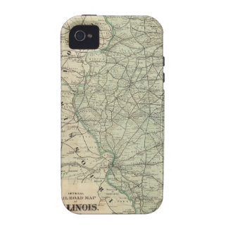 Official railroad map of Illinois Case-Mate iPhone 4 Cases