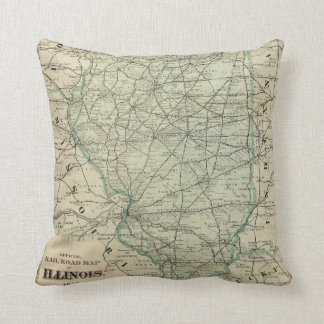 Official railroad map of Illinois Cushion