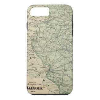 Official railroad map of Illinois iPhone 7 Plus Case