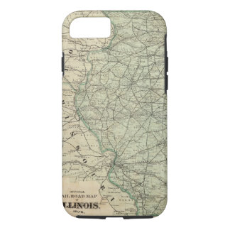Official railroad map of Illinois iPhone 8/7 Case