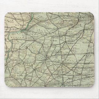 Official railroad map of Illinois Mouse Mat