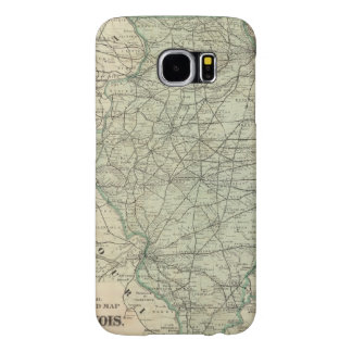 Official railroad map of Illinois Samsung Galaxy S6 Cases