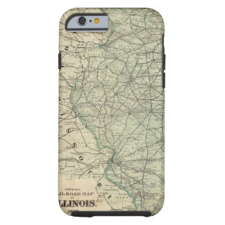 Official railroad map of Illinois Tough iPhone 6 Case