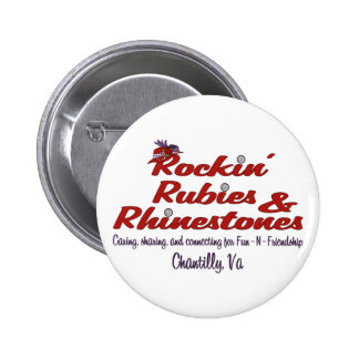 Official Rockin Rubies Rhinestones Button