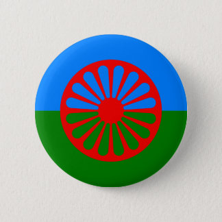 Official Romany gypsy flag 6 Cm Round Badge