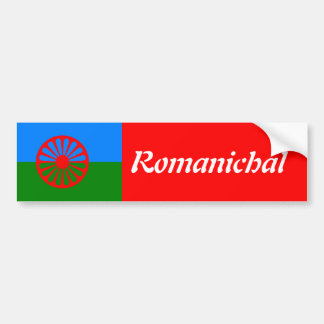Official Romany gypsy flag Bumper Stickers